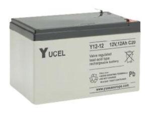 NP12-12 Yuasa Yucell 12v 12Ah Rechargeable AGM Lead Acid VRLA Battery Y12-12