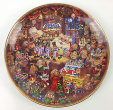 Santa's Pepsi-Cola Workshop Collectors Plate by Bill Bell 1995