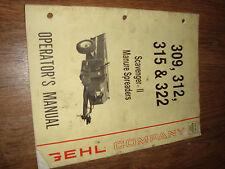 Gehl 309 312 315 322 Scavenger 2 Manure Spreaders Operators Manual 904032