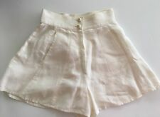 VINTAGE CHANEL SEXY HIGH WAISTED LINEN SHORTS FR 38 VERY RARE!