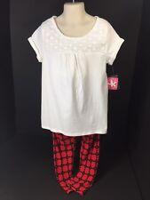 Childrens Clothes Girls Size S (7) Top & Pants J Khaki Kids White Red Black NEW