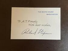 Richard Nixon Signed Autographed White House Card