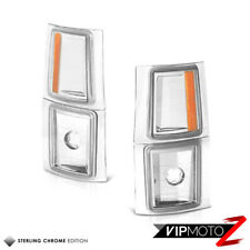 4PC Corner Signal Side Marker Light Lamps Chevy CK C10 1500 2500 3500 2WD Chrome