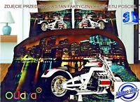 3D Photo Effect Bedding Set Duvet Cover Motorbike Car Moto Sport with Pillowcase