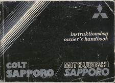 Mitsubishi Colt Sapporo GSR GLS 1980-84 original Owners Handbook English Swedish