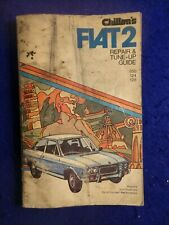 Chiltons Fiat 2 Repair Manual 850 124 128 Paperback 1974 Tune Up Guide -SEE PICS