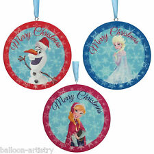 3 Disney's Frozen Christmas Party Character Medallion Hanging Tree Decorations