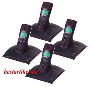 Swisscom TOP A412 Schnurlos Analog Telefon AB mit 3 Stück A312 Quattro