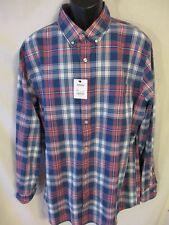 Sonoma 100% Cotton XL BLue Plaid  Long Slve Everyday Shirt SR$44 NEW