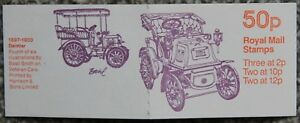 Unused GB Design No 4 Daimler 50p Royal Mail Postage Stamps Booklet FB13A 1980