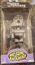 "TRANSFORMERS G1 Megatron ""Head Knockers"" Hand-Painted Bobblehead 2002 NECA w/box"