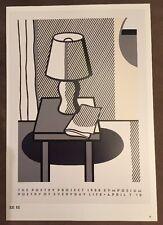 Roy Lichtenstein Poetry Project Symposium 1988 Pop Art Poster.        P:95