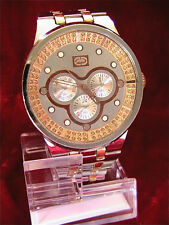 """NEW MARC ECKO MENS """"Erena"""" Two Tone Rose Gold/Silver Stainless Watch E17507G1"""