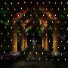 2x3m LED Lichternetz Netz innen Aussen Weihnachten Lichterkette Lichtervorhang