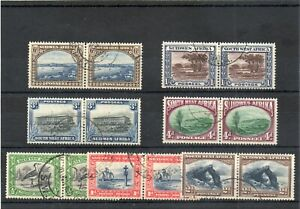 SG 74/80 SOUTH WEST AFRICA FINE USED SET TO 1/-. CAT £58