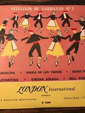 "Vintage! SELECCION DE SARDANAS NO. 1 JOSE COLL 10"" LP"