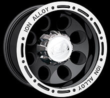 "CPP ION Alloys style 174 Wheels Rims 15x8, 5x4.5"", black with beadlock look"