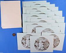 Note Card lot of 24 - Tolkien - The Hobbit - Bilbo & Dwarves in Barrels '84 vtg