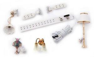 Poupées Maison Électrique Lumière Kit Démarrage 4 Feux Prise Bande Extension 12V