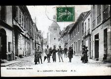 LORMONT (33) COMMERCES BOULANGERIE & COIFFEUR animés , EGLISE en 1916