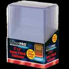 """Ultra Pro Toploader 3""""x4"""" Thick 130pt Card Holder 10 Pack [NEW] Case Top Loader"""