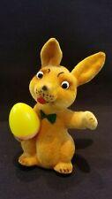 1950's Limmer Gesetzlich Geschutzt Flocked Dancing Bunny Tin Wind-Up Toy WORKS!