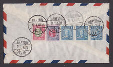 CHINA STAMP COVER 12-1-1948 TIENTSIN LETTER NICE FRANKING ON REVERSE TO GERMANY