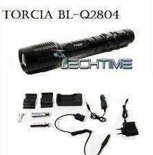 TORCIA 50000 LUMEN TATTICA/MILITARE X FUCILE LED T6 RICARICABILE ZOOM BL-Q2804