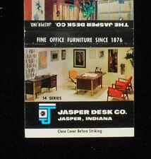 1960s Jasper Desk Co. Office Furniture Since 1876 Jasper IN Dubois Co Matchbook
