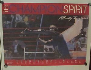 1984 Summer Olympics POSTER Men's Javelin Throw~winner&time through 1980 ~ NEW