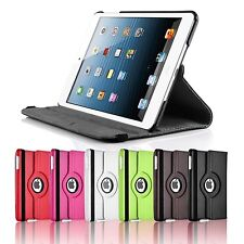NEW 360°  iPad 2 3 4 Heavy Durable PU Leather Case Cover + Screen Protector