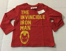 New Boys Baby Gap Marvel Iron Man Long Sleeve T Shirt 2t