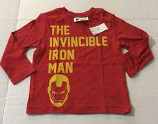New Boys Baby Gap Marvel Iron Man Long Sleeve T Shirt 4t