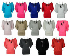 Batwing, Dolman Sleeve Unbranded Machine Washable Solid Tops & Blouses for Women