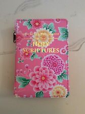 NEW WORLD TRANSLATION POCKET BIBLE COVER, PNK SPRING FLOWERS, Jehovah's Witness
