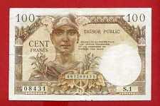 (Ref: S.1 )  100 FRANCS TRÉSOR PUBLIC 1955 (TTB) RARE
