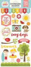 Echo Park Happy Summer Collection Chipboard Stickers 2016