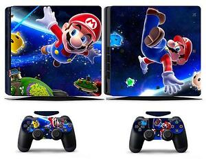 Mario 906 Vinly Skin Sticker Cover for Sony PS4 Slim PlayStation 4 SLIM