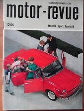 Tschechoslowakische MOTOR REVUE 12-1966 ** Skoda Messe Brno Six Days Jawa-Kanada
