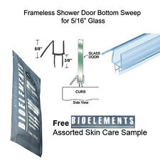 """Shower Door Bottom Seal with Drip Rail for 5/16"""" Glass - 31"""" long w/ Bioelements"""