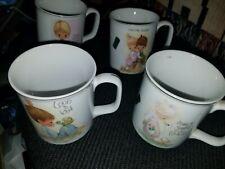 Precious Moments Coffee Mugs Porcelain Enesco 1978 Decorative 4 cups