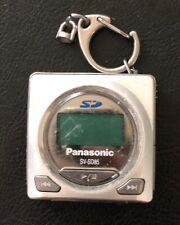 Panasonic E-Wear SV-SD85 Silver Digital Media Keychain Player - UNTESTED - Rare