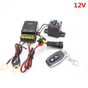 Battery Kill Switch Disconnect Isolator Power Cut Off Remote Control Fit For Car