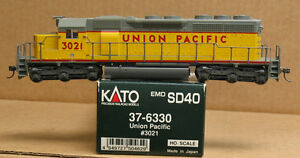 KATO 37-6330 HO Union Pacific SD40 #3021, standard DC,  pre-owned, excellent