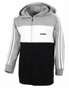 adidas Little Boys Cotton French Terry Colorblocked FZ Hoodie - NWT - MSRP$45.00