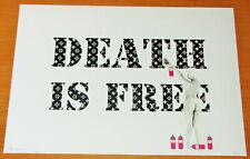 DEATH NYC Ltd Ed Print - Death is Free - NYC COA & Sticker 45x32 No. 18/100