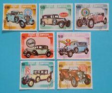 "Kambodscha: Michel-Nr. 598-604 ""Automobile"" aus 1984, gestempelt"