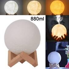 Humidificador de aire purificador de aceite 880ml 3D esenciales aroma difusor de luz de la Luna Reino Unido