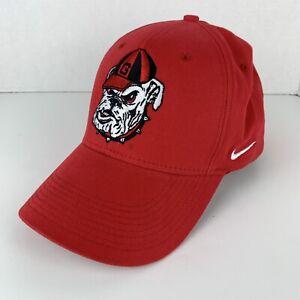 Georgia Bulldogs One Size Collegiate Fitted Nike Red Baseball Hat Swoosh Flex
