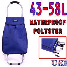 NEW Eagle Blue Lightweight hard wearing 2 Wheel Shopping Trolley waterproof Cart